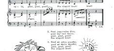 Písničky | Výtvarná výchova | 2. stránka Sheet Music, Music Sheets