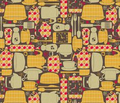 Superieur Retro Kitchen Fabric By Leighr On Spoonflower   Custom Fabric