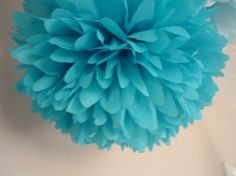 3 Tissue paper pom poms, Wedding decorations, Baby shower, wedding rehearsal, Bridal party, Party decorations.