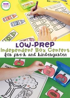 This growing bundle of box centers will give you Low-Prep Independent Box Centers for Pre-K & Kindergarten for the whole year!