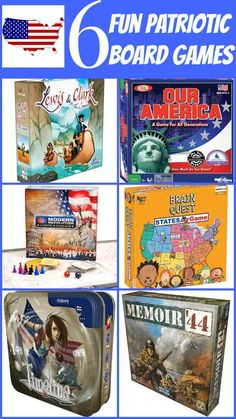 Looking for fun for your 4th of July party? Try these patriotic board games. Great idea for activities to do for any patriotic theme party.