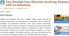 "Two Detailed Case Histories Involving Patients with Co-Infections - Virginia T. Sherr, M.D. - Seizures, balance trouble, narcolepsy-like and emotional disturbances, cardiac and endocrine-like symptoms. ""Lack of general medical awareness ... prolonged their illnesses resulting in severe discomfort and long-term disabilities."" Lyme disease, babesiosis, B. microti, ehrlichiosis"