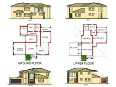 Round House Plans, 3d House Plans, Duplex House Plans, Beautiful House Plans, Beautiful Homes, House Plans South Africa, Tumi, Ground Floor, Floor Plans