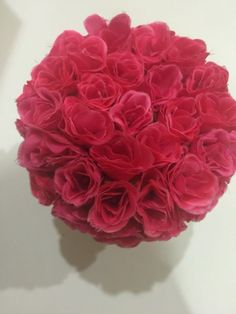 ELIXITA Centerpiece Wedding Table Decoration Center Flowers Silk Valentine Roses