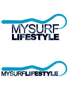 Progetto del logo per la società MySurfLifeStyle che commercializza prodotti per surf da onda #logo #graphic #design