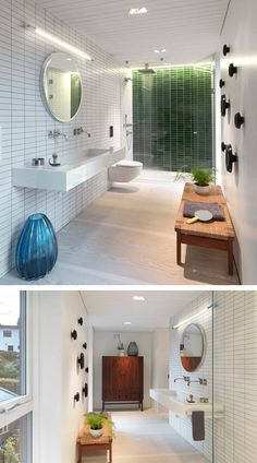 A Contemporary Bathroom In A Home In Norway