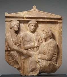 Marble Gravestone of Theogenis; Greek, Athens, c. 360 B. x x Getty Museum, Malibu Ancient Greek City, Ancient Greece, Ancient Art, Greek History, Art History, Greek Artifacts, Macedonia, Greek Culture, Getty Museum