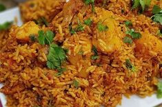 Rice Dishes, Food Dishes, Dishes Recipes, Indian Food Recipes, Asian Recipes, Ethnic Recipes, Tinned Tomatoes, Small Chicken, Saute Onions