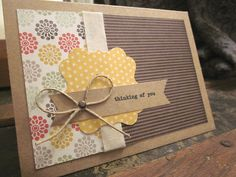 """thinking of you"" stationery card set"