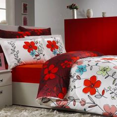 Sateen Duvet Cover Set Jardin – beautiful silk-like natural cotton Turkish sateen bedding set featuring vibrant floral design will transform the way your bedroom looks! Duvet Sets, Duvet Cover Sets, Home Textile, Bed Sheets, Pillow Cases, Modern Design, Floral Design, Bedding, Vibrant