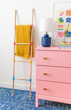 Diy Interior, Upcycled Home Decor, Diy Home Decor, Ikea Dresser Makeover, Diy Doll Miniatures, Diy Blanket Ladder, Wood Ladder, Diy Crafts For Adults, Diy Schmuck