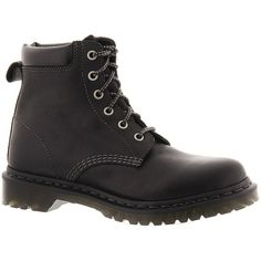 Dr Martens 939 6-Eye Hiker Boot ($68) ❤ liked on Polyvore featuring shoes, boots, black, kohl shoes, dr martens boots, dr martens shoes, ski shoes and dr. martens