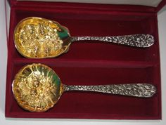 Silver Plated Serving Spoons by Godinger  by StetsonCollectibles