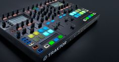 Traktor Kontrol S8. Latest all-in-one controller/mixer. No jog wheels. High-res screens instead.