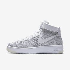 pretty nice 5a116 77a79 Nike Air Force 1 Ultra Flyknit White-Black Womens Shoe
