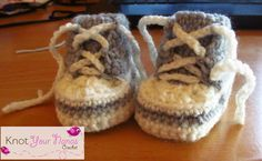 Free Crochet Pattern for Newborn High Tops or Converse