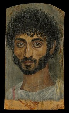 Portrait of a thin-faced, bearded man, A.D. 160–180. Egyptian. The Metropolitan Museum of Art, New York. Rogers Fund, 1909 (09.181.1)