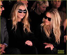 I friggin love them. Olsen twins at the J. Mendel fashion show