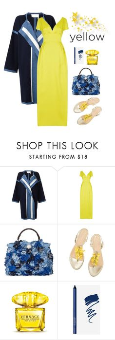 """Another Day Of Sun"" by mayyabu ❤ liked on Polyvore featuring Chloé, ESCADA, Fendi, Versace, bright, yellowdress and lalaland"