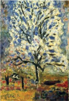 The almond tree in blossom - Pierre Bonnard