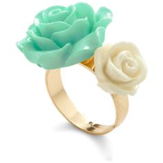 Retro Rosie Ring in Blossoms ($5.99) ❤ liked on Polyvore featuring jewelry, rings, accessories, anillos, jewels, band jewelry, retro jewelry, retro rings, flower jewelry and plastic flower ring