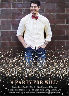 Celebrate your birthday with style! Create adult birthday invitations with Shutterfly. We also offer surprise birthday party invitations in custom designs. Champagne Birthday, Champagne Party, Surprise Birthday Invitations, Birthday Bash, Birthday Ideas, Shutterfly, Confetti, Celebrities, Fun Ideas