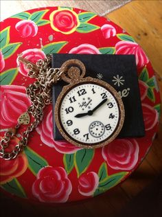 Pocket Watch Large Pendant - Gold - The Age of Blazing Trails Tatty Devine, Gold Pendant, Pocket Watch, Brooches, Archive, Age, Dress, Accessories, Jewelry