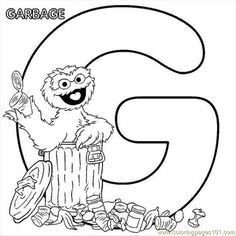 free sesame street printables free printable coloring page sesamestreet coloring g oscar cartoons