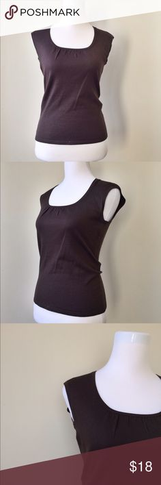 Ann Taylor T-Shirt Ann Taylor Brown t-shirt in perfect condition. It is 65 % Silk 21 % nylon and 3 % Lycra spandex. It is about 22 inches in length and about 15.5 inches across the shoulder. I am a top-rated seller and fast shipper 🎉🎉 Ann Taylor Tops Tees - Short Sleeve