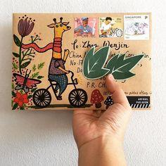 Hello! What's your weekend plan? Enjoy your weekend~! ✨ . . #giraffeonbicycle #giraffe #weekendvibes #goodvibes #happymail #write #handwritten #handwrittenwordsarethebest #draw #handdrawn #doodle #handmade #writemoreletters #sendmylove #sendmoremail #handpainted #snailmail #snailmailrevolution #snailmailart #snailmaillove #letter #letterart #letterlove #postal #stamp #stationery #penpals #friendsacrosstheworld