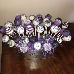 Vamperina theme cake pops for a friends party