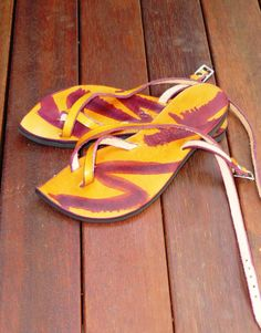 Leather Sandal - Venus - Goddess Range - Yellow   Purple a8abaa4018