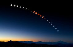 """Lunar Eclipse Over Mt. Shasta"" by Sean Bagshaw  In relation to having my image Color Wash honored in the 2012 Nature's Best Awards I thought I would also include this photograph in my 500px gallery which won in 2008. It is a composite image representing the progression of the earth's shadow across the moon during the total lunar eclipse of August 28, 2007. I spent six hours photographing the entire event on a perfectly clear and cloudless night"