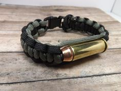 Paracord bracelet with 44 magnum by mybeadedbutterfly on Etsy