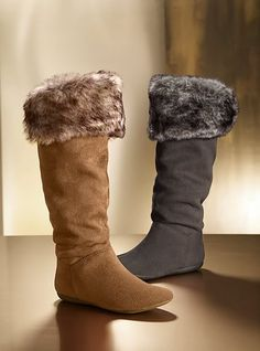 I love these winter boots with the cuff fur