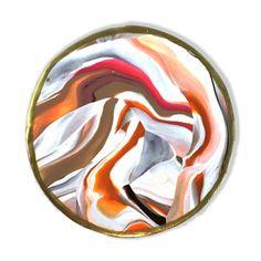 Earth Tone Marbled Clay Coaster