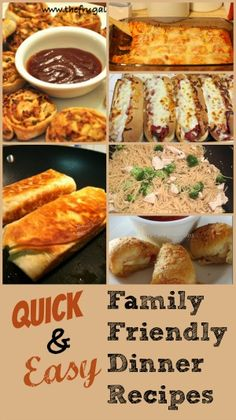 Quick and Easy Family Friendly Recipes