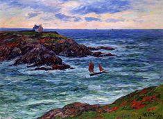 Sailboats off the Coast of Douelian, 1902. Henri Moret
