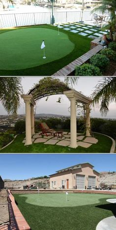 Green-R Turf Artificial Grass specializes in installing artificial residential turf. They handle every aspect of landscaping design services.