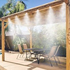 The totally portable Cool Camper 6 outdoor misting system provides a cool environment from the heat wherever you need it. Comes pre-assembled with clip-on attachments for easy 'set up' and 'take down' – and includes a portable water tank for when you can't find a water source or when you're 'off the grid'  Provides 10 feet of lead line and 6 feet of mist line Cools the ambient temperature up to 30°F Water tank holds over 2 gallons Portable