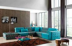 Modern corner sofas Colorful Sofa Home Design Ideas, Furniture And Decorating