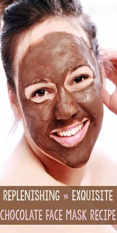 DIY Chocolate Face Mask Recipe Make your skincare deliciously simple by rounding up kitchen ingredients for a beneficial, natural chocolate face mask you can literally eat. Homemade Face Masks, Diy Face Mask, Diy Mask, Skin Care Regimen, Skin Care Tips, Chocolate Face Mask, Chocolate Facial, Avocado Face Mask, Greasy Hair Hairstyles