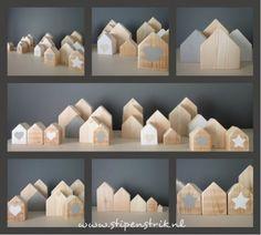 Houten huisjes in allerlei formaten