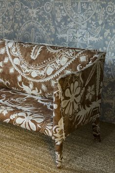 Lewis & Wood unveiled their most innovative collection to date at London Design week. Three talented artists – Melissa White, Flora Roberts and Su Daybell – were . Fabric Wallpaper, Of Wallpaper, Chinoiserie, London Design Week, Take A Seat, Sofa Covers, Interior Design Services, Fabric Panels, Soft Furnishings