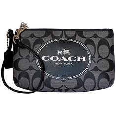 Women's Wristlet Handbags - Coach Signature Medium Wristlet  BlackWhite *** Be sure to check out this awesome product.