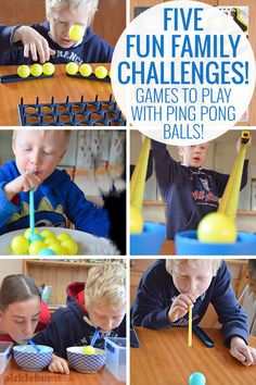 Five fun family 'minute to win it' games to play with ping pong balls!