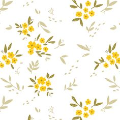 Wallpaper Floral Yellow Flower Patterns 70 Ideas For 2019 Floral Pattern Wallpaper, Flower Background Wallpaper, Floral Pattern Vector, Motif Floral, Flower Backgrounds, Background Patterns, Floral Prints, Lino Prints, Block Prints