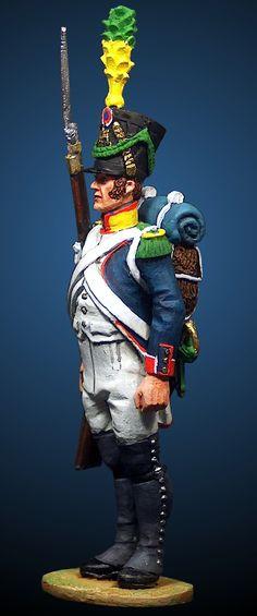 Volteggiatore di un rgt. di fanteria di linea, 1808