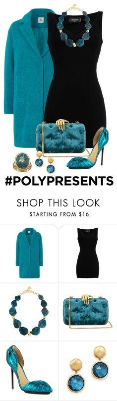 """""""#PolyPresents: Statement Jewelry"""" by shamrockclover ❤ liked on Polyvore featuring Dsquared2, Nest, Benedetta Bruzziches, L.A.M.B., Marco Bicego, BillyTheTree, contestentry and polyPresents"""