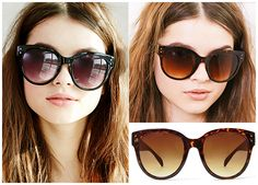 Forever 21 Oversized D-Frame Sunglasses in black and tortoise, $5.90 (Céline Audrey dupes)